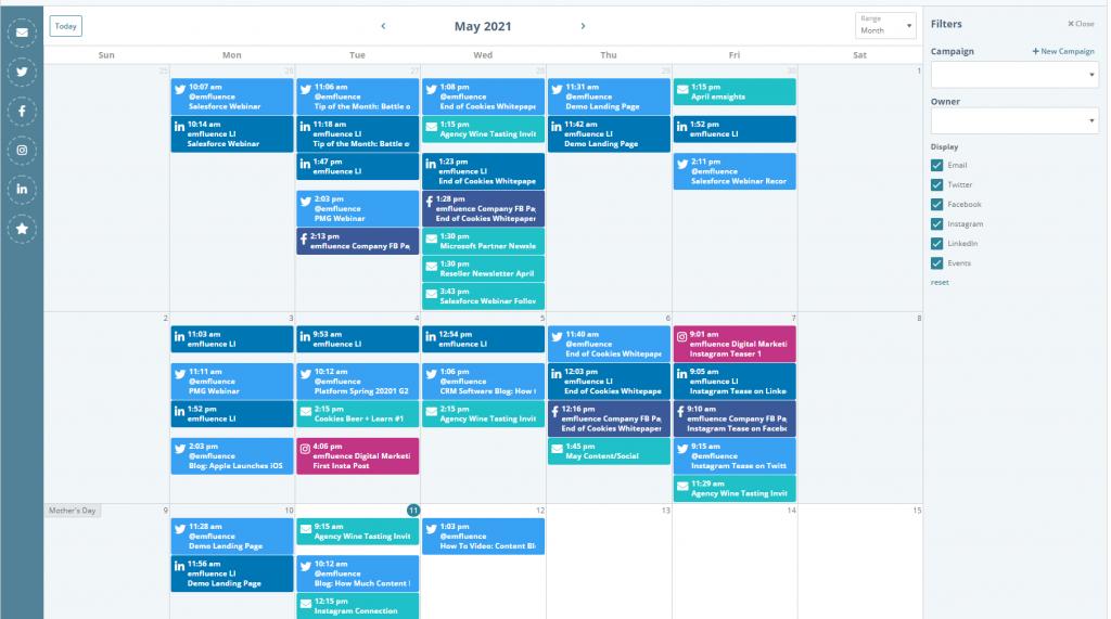 Marketing Calendar with Instagram