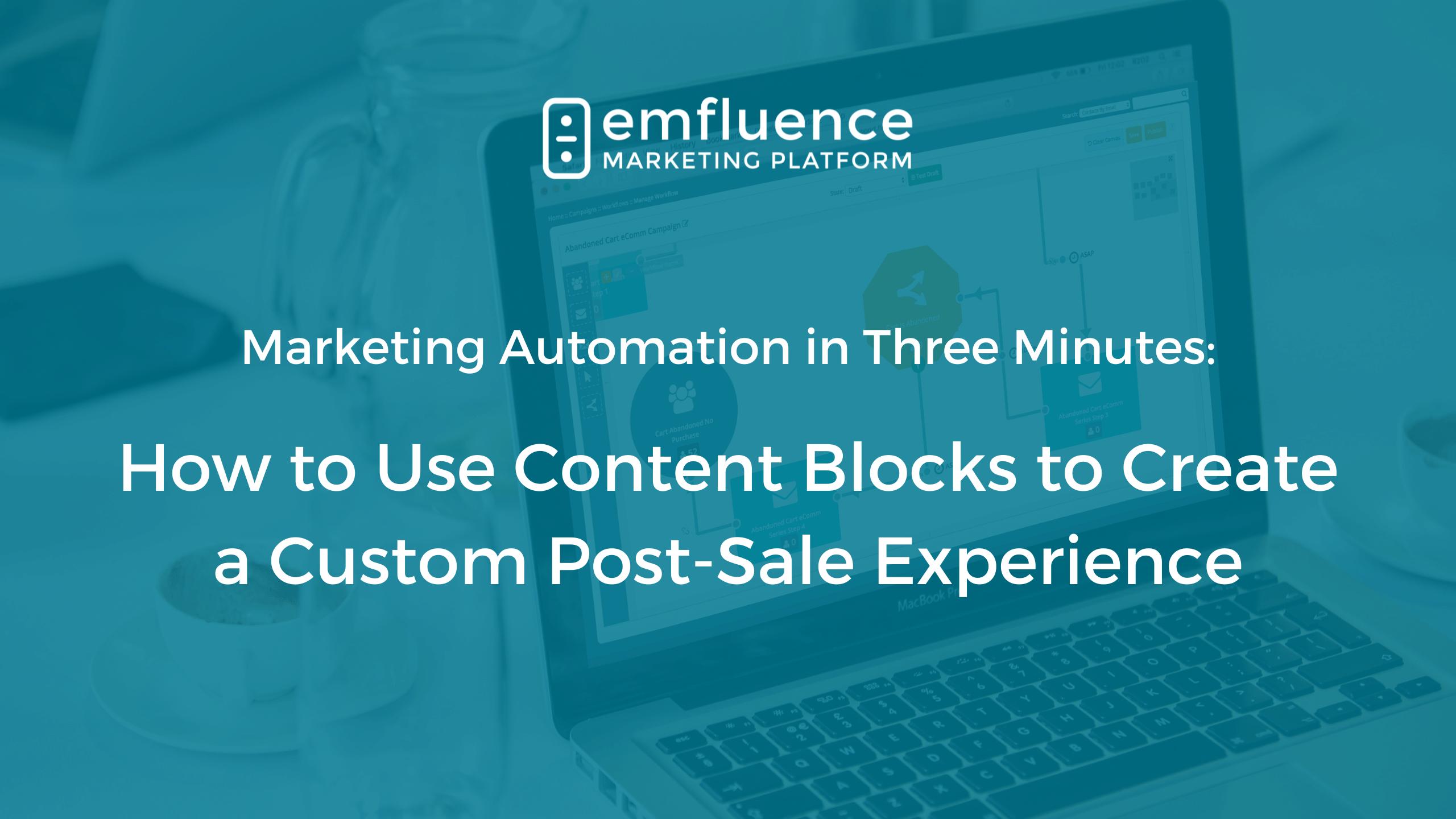 Marketing automation three minutes post sale